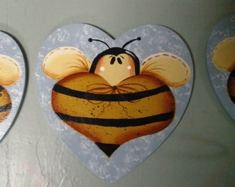 Bee Angel - Handpainted, Personalization Save the Bees; Free shipping