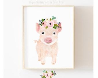 Pig Wall Art Etsy