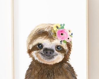 Sloth Nursery Etsy