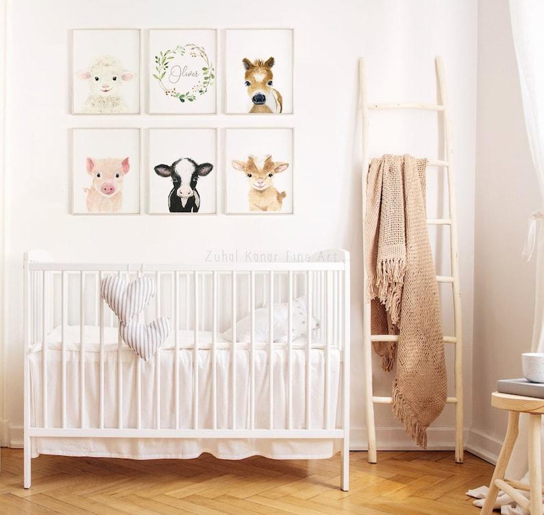 Gender Neutral Nursery Farm Nursery Decor Farm baby shower Gift Farm Nursery Prints Set of 6 Nursery Prints Baby Boy Nursery Decor