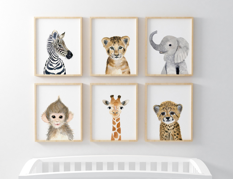 African Baby Animals Nursery Print Set 6 Safari Nursery ...