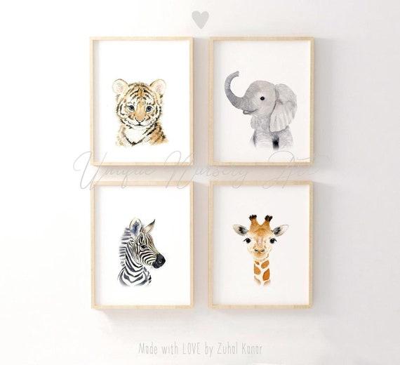 Safari Nursery Decor, Safari Nursery Prints, Jungle Nursery, Safari Nursery, Giraffe nursery, Elephant , Nursery Wall Art, Kids Room Decor