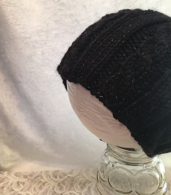Black Sparkly Hat Black Sparkly Beanie Black Beanie Sparkly  9f8ca4cb1da