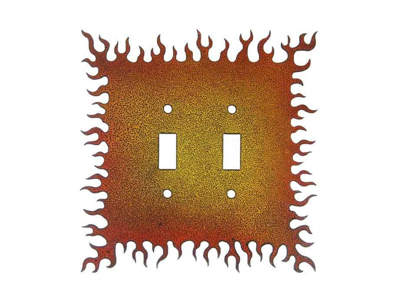 Double Switch Free Shipping in US Decorative Lightswitch Flames