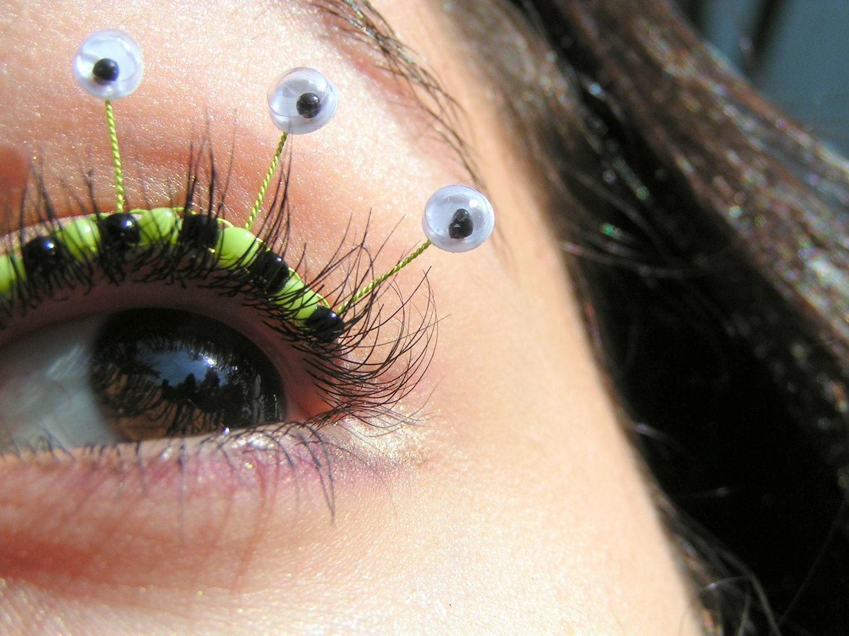 ba31754ad16 Googly Eye Eyelash Jewelry Halloween false eyelashes with   Etsy