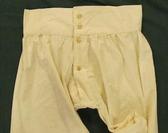 Men's Drawers - Button Fly - 100% cotton muslin - Civil War / Victorian reenacting - Historic underwear