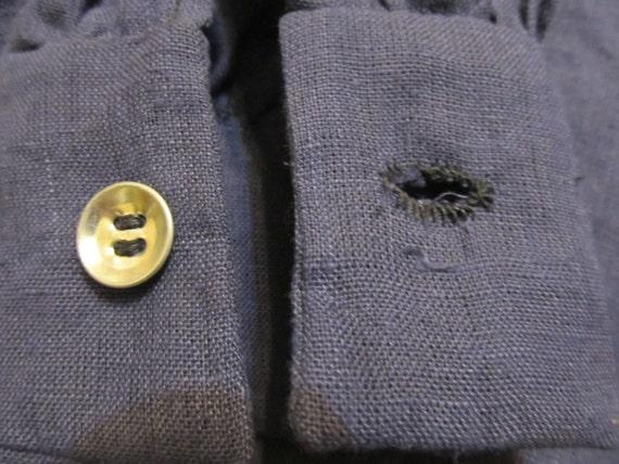 ... tour de cou grand 17 pouces   grand cou - Shirt en lin - main cousu ... 51891e7b9e0
