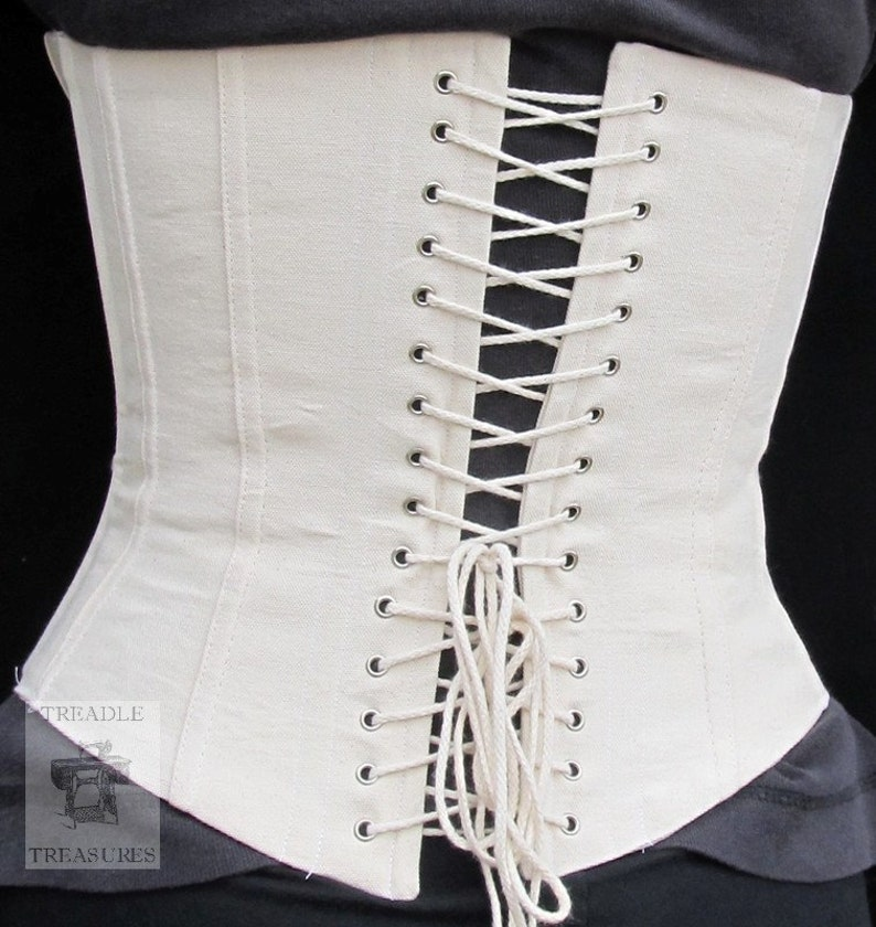 85369ac3e2 Civil War Lined Working Corset with Grommets Custom Made