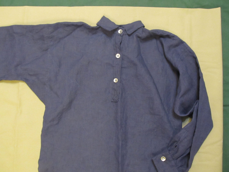 tour de cou grand 17 pouces   grand cou - Shirt en lin - main cousu ... 13f80a5d894