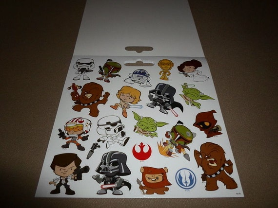 """120 Stickers NEW 6 Disney Star Wars Stickerland Sticker Pages~5 3//4/"""" X 5 1//2/"""""""