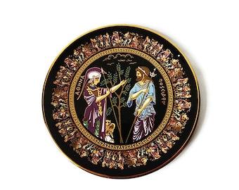 Vintage Greek Hand Painted Plate ...  sc 1 st  Etsy & Greek ceramic plate   Etsy