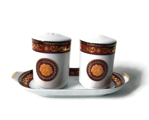 Salt /& Pepper Tray Vintage Juno Porcelain Bacchus  Motif Elegant Salt and Pepper