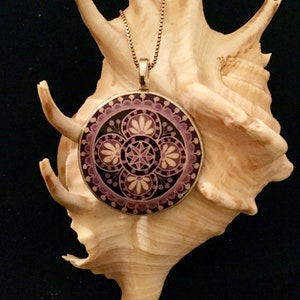 batik pendant Pysanky eggshell jewelry