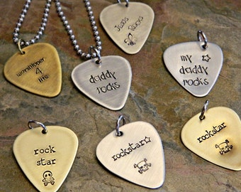 Choose a Guitar Pick - INVENTORY CLEAROUT - Clearance Sale - Father's Day - Ready to Ship