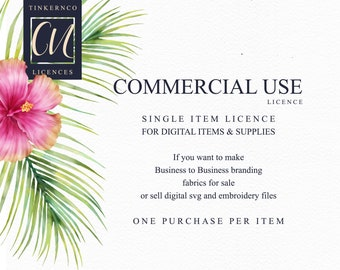 Commercial Licensing agreement - single clipart sets for making supplies, sewing files, wall art, embroidery files.