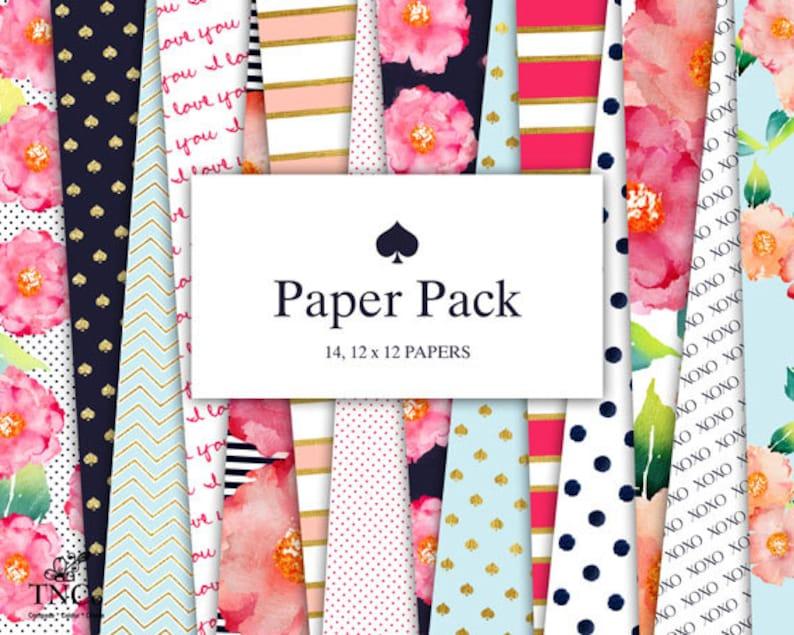 Digital scrapbook paper  Modern prints  Patterned paper  image 0