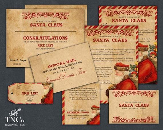 Santa letter printable santa claus letter reindeer food bag spiritdancerdesigns Choice Image