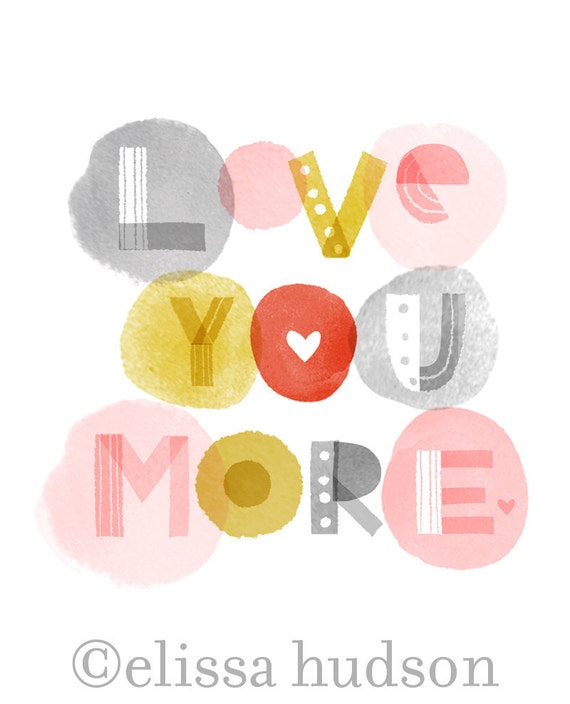 love you more wall art print | Etsy