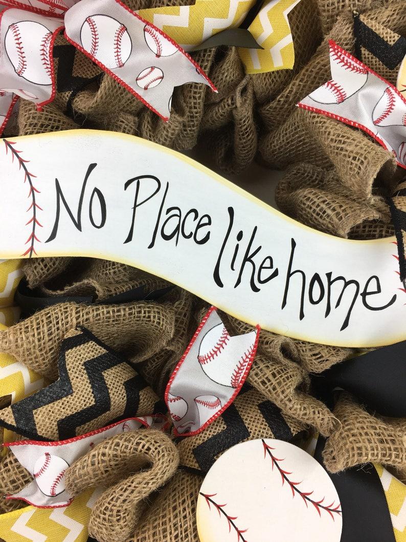 Summer wreath sports wreath baseball wreath spring wreath Burlap Baseball wreath black and gold