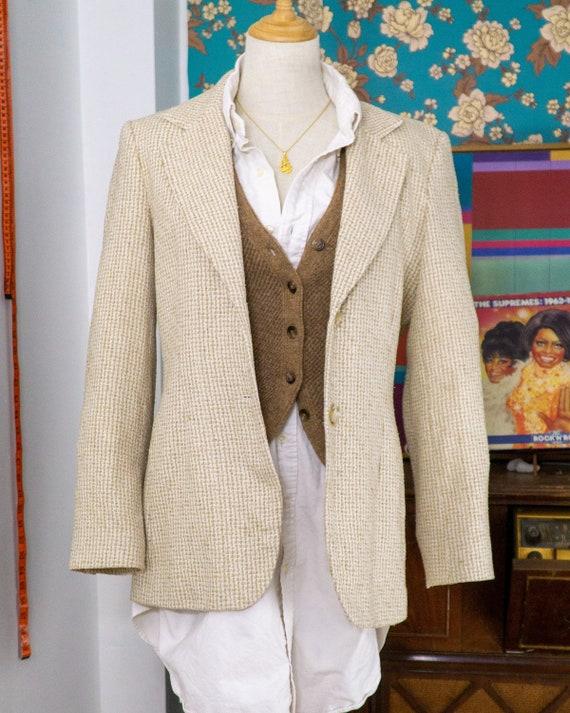 Y2k Silk Tweed Fitted Blazer