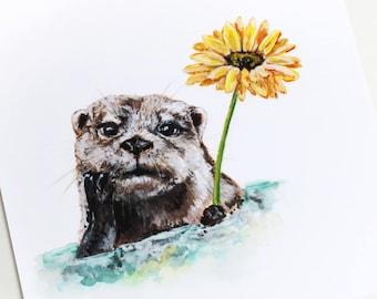 Lovely Otter Giclee Print