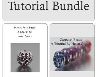 Petal Bead and Carousel Bead Lampwork Tutorial Bundle by Helen Gorick