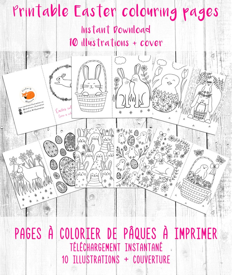 photo about Printable Easter Activities titled PRINTABLE Easter colouring web pages, easter things to do, little ones easter crafts, colouring e-book pdf, young children easter reward, easter sport e-book
