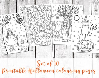 Halloween coloring pages, halloween pdf, halloween printable, halloween activities, halloween art, coloring pages pdf, cute halloween