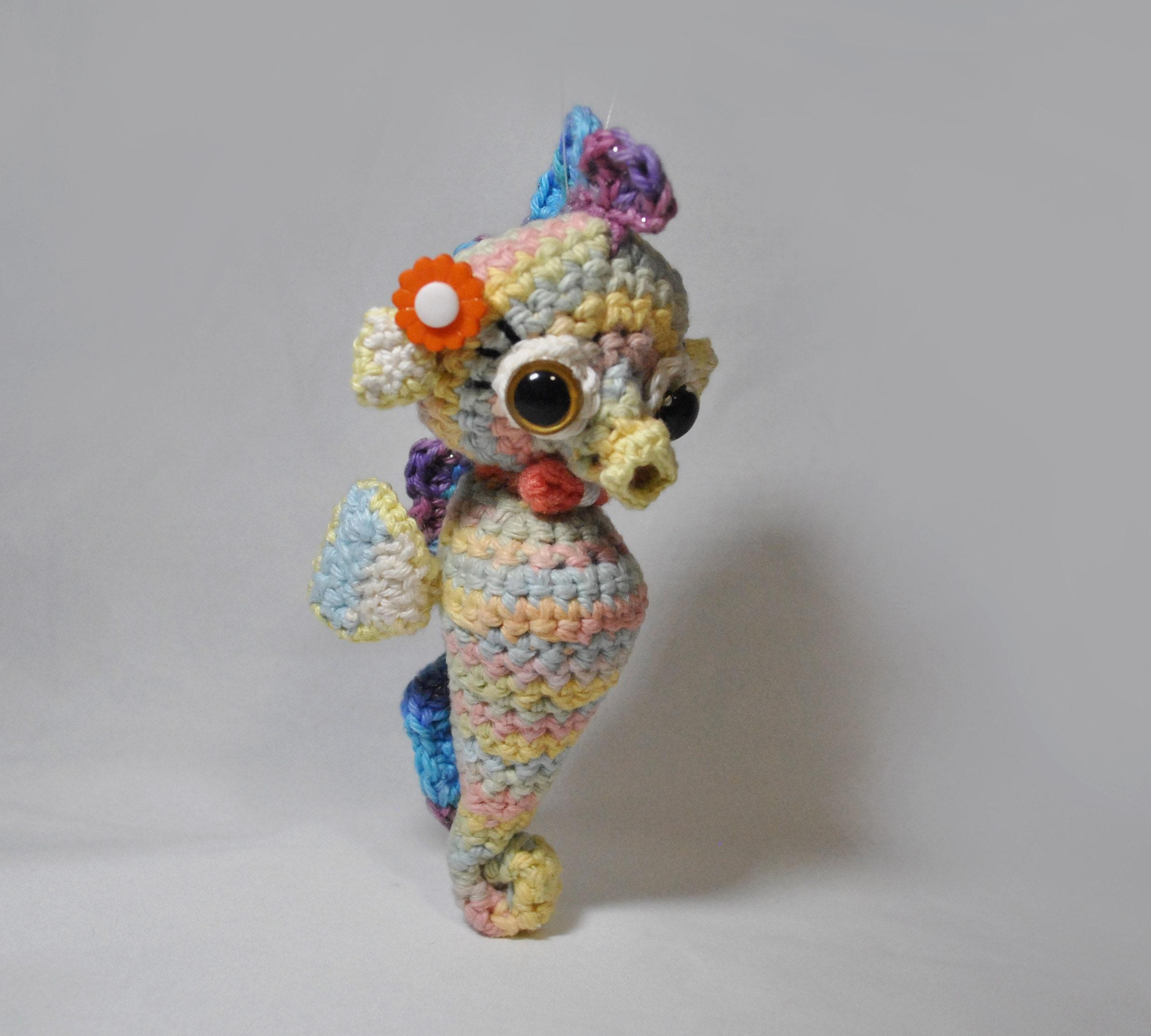 Crochet Pattern Cute Seahorse Amigurumi Etsy