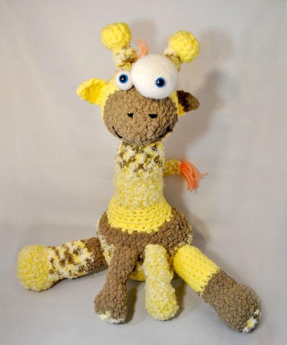 Crochet Pattern Plush Goofy Giraffe Amigurumi Zoo Etsy