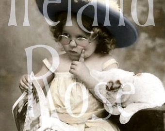 Gretchen and Ophelia-French Postcard Digital Download