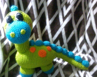 Crochet Dinosaur Brontosaurus any colors you want