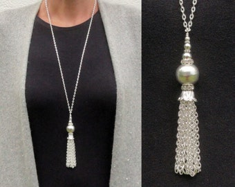 Silver Tassel Necklace 5fd11554ad5d