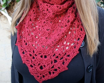 Scarlet Lace Shawl