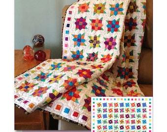 Flowers Squared Lap Quilt - #528