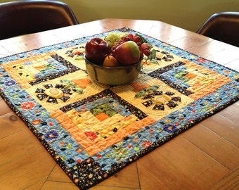 Potted Flowers Quilted Table Topper #513
