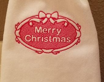 Merry Christmas Fingertip Towel