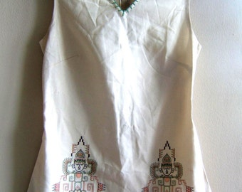 Embroidered Mini Dress Small X-Small