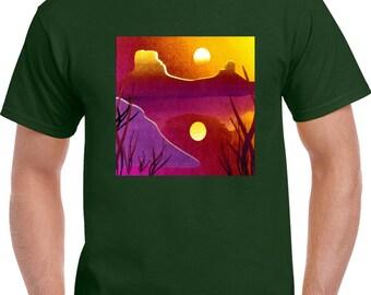Desert Sunset Mens Tshirt
