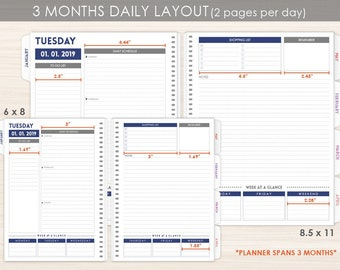 3 month planner etsy