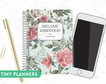Printed Tiny Planner   Small 2020 Planner   Weekly Planner   Pocket Planner   Extra Small Planner   Mini Planner   for Her   Vintage Rose