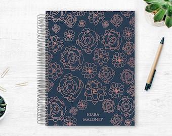 Planner   2021 Weekly Planner   Weekly Planner   Hourly Planner   Custom Planner   Personal Planner   Life Planner   Faux Rose Gold Floral