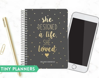 Custom Printed Small Planner   Tiny 2020 Planner   Weekly Planner   Pocket Planner   Extra Small Planner   Mini Planner    Live She Loved
