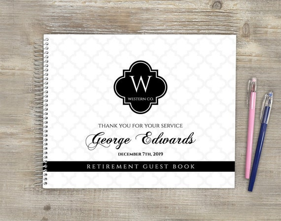 Custom guestbook retired teacher Personalized instax guest book album Retirement party gift registry book Retirement guest book