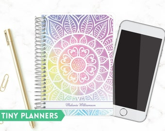 Custom Tiny Planner   Small 2020 Planner   Weekly Planner   Pocket Planner   Extra Small Planner   Mini Planner   Colorful Mandala