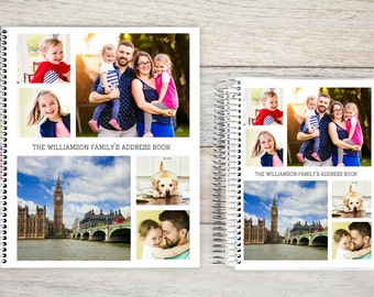 Address Book, Personalized Address Book, Contacts Book, Telephone and Address book, Custom Address Book - Photo Collage