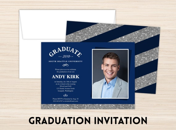 Custom Printed Graduation Invitation Graduation Party Invitation