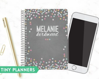 Custom Tiny Planner   Small 2020 Planner   Weekly Planner   Pocket Planner   Extra Small Planner   Mini Planner    Confetti