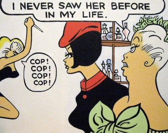 dick tracy painting, number 6, of tess and company