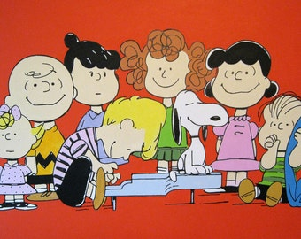 the peanuts gang painting